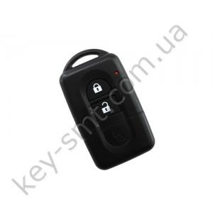Корпус смарт ключа Nissan Qashqai, X-Trail, Micra, Note, Tiida и другие, 2 кнопки, лезвие NSN14 /D