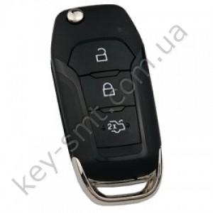 Корпус выкидного ключа Ford Ranger, Mondeo, 3 кнопки, лезвие HU101 /D