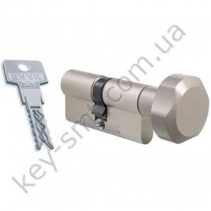 Цилиндр EVVA 3KS DZ(46x46)ключ/поворотник  никель 3 ключа